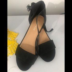Rampage black block heel sandal